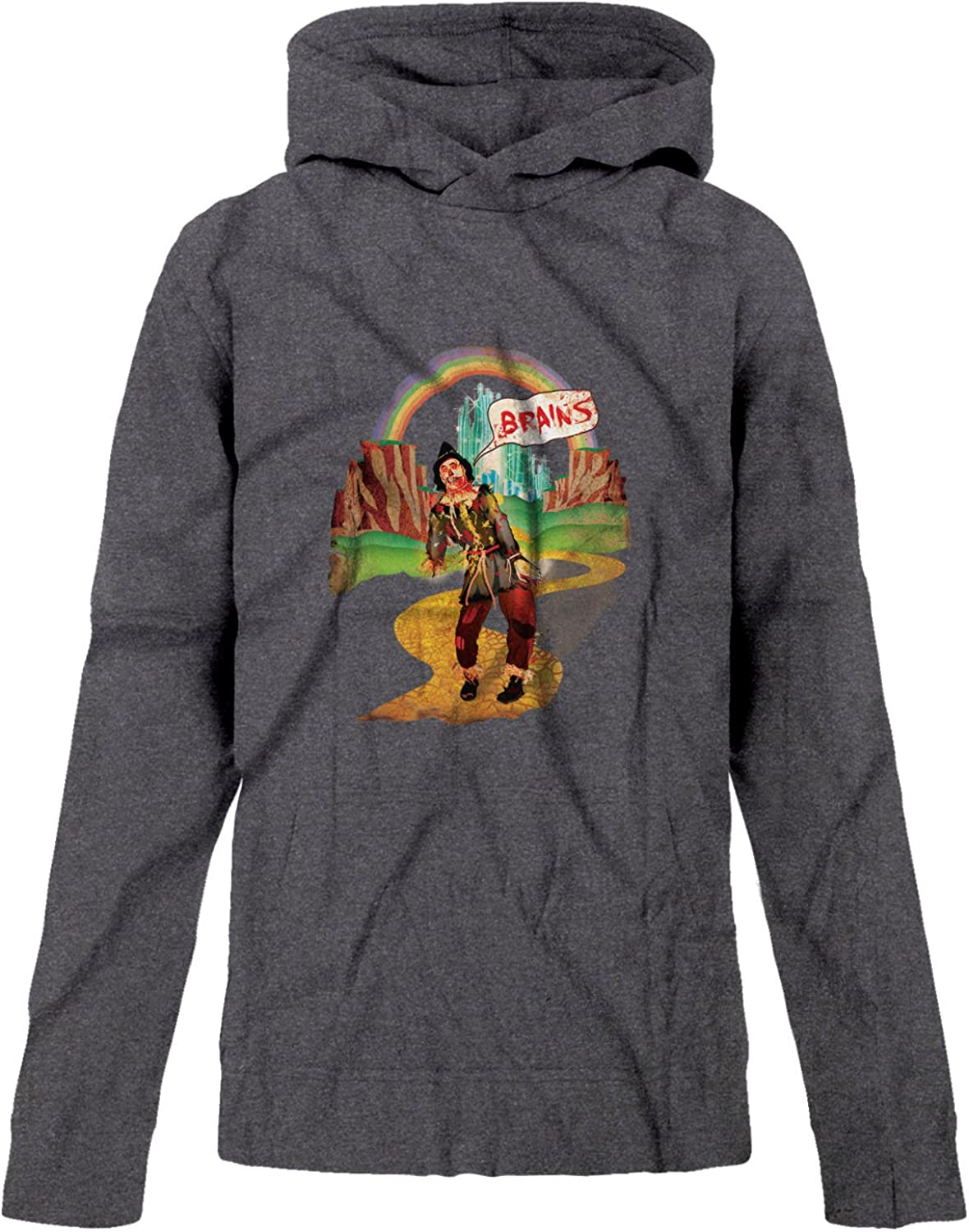 BSW Youth Boys Brains Scarecrow The Wizard of Oz Zombie Zip Hoodie