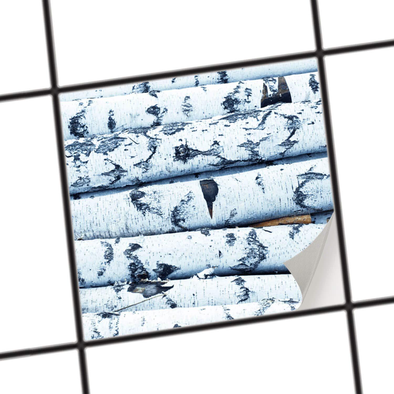 creatisto Dekorfolie Fliesen ü berkleben | Motiv-Folie Sticker Aufkleber Badezimmerfolie Badezimmergestaltung | 10x10 cm Erholung Wellness Weisses Buschwerk - 1 Stü ck creatisto GmbH