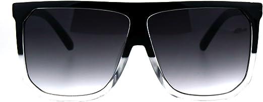 Womens Ladies Mens Flat Top Sunglasses Designer Oversized Black Mirror Tortoise