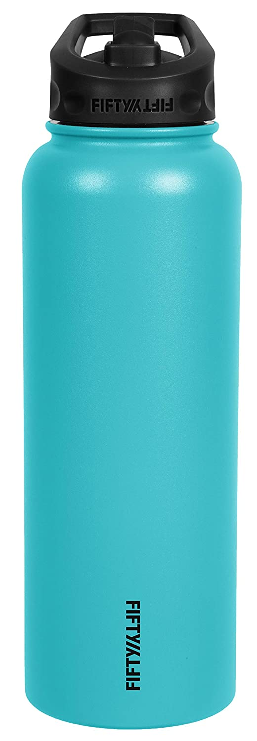 Fifty//Fifty 40oz Double Wall Vacuum Insulated Sport Water Bottle