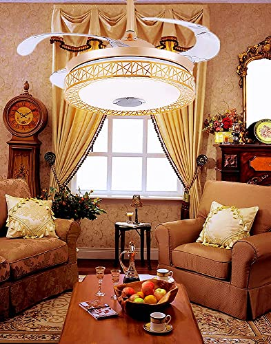Sweety House 42″ Bluetooth Music Ceiling Fan Ceiling Light
