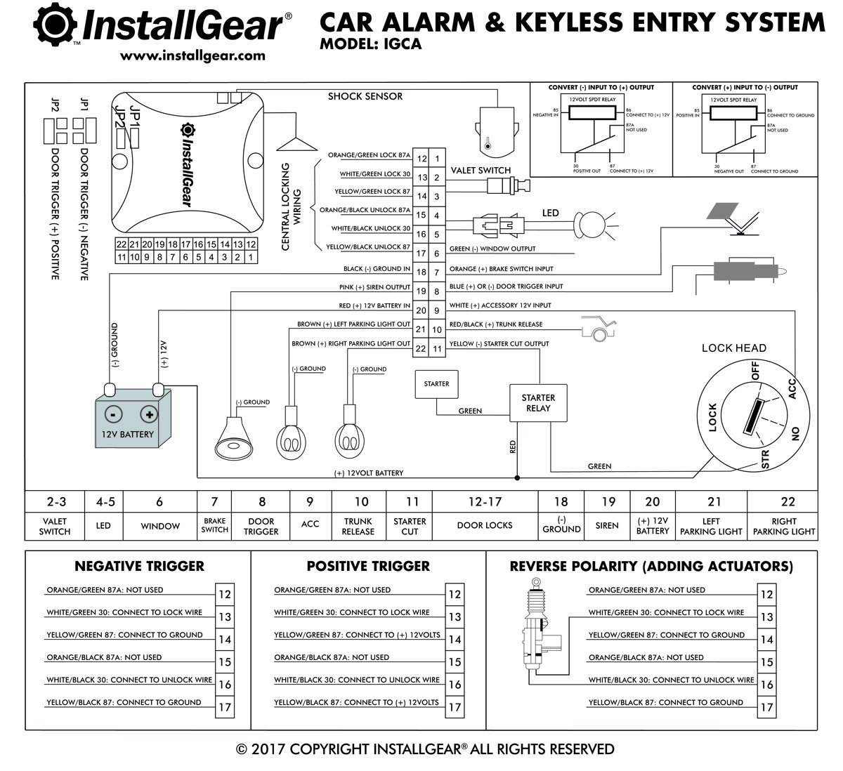 amazon com installgear car alarm security keyless entry system rh amazon com aftermarket keyless entry wiring diagram icd keyless entry wiring diagram