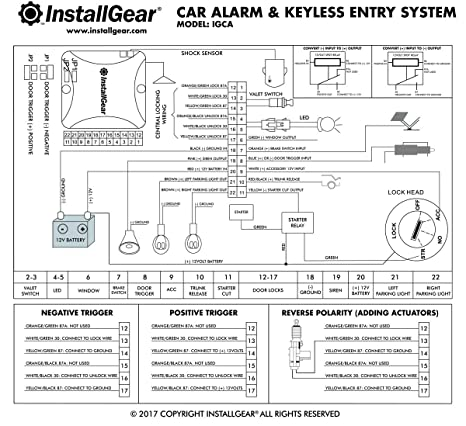 amazon com installgear car alarm security keyless entry system rh amazon com