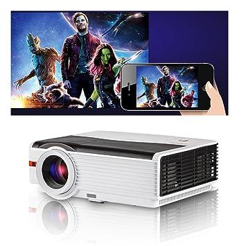 5000 lúmenes LED Proyector de Cine en casa 1080p HD Compatible con ...