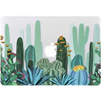 Cactus Pattern MacBook Pro 13 inch Case (A1278 2008-2012 Release), iDonzon 3D Effect Matte Clear See Through Hard Case Cover Only Compatible MacBook Pro 13.3 inch with CD-ROM
