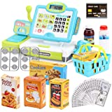 FS Pretend Play Calculator Cash Register Toy as Preschool Gift for Kids, Classic Count Toy with Sound, Microphone…