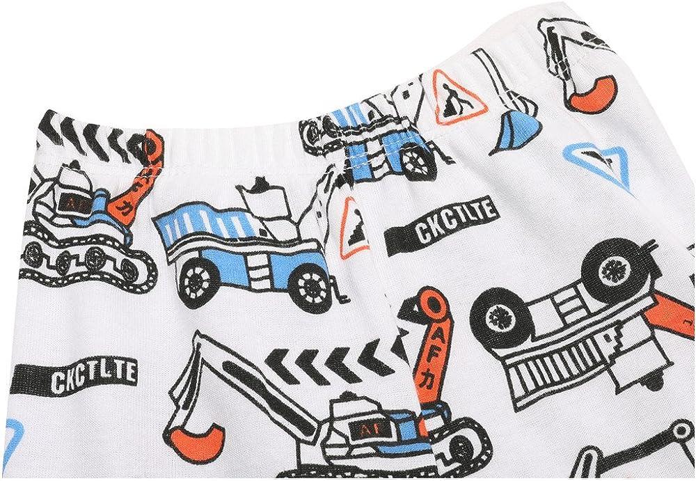 DEF Children Kids Boys Summer Pajama Sets 100/% Cotton Suit for 2T-7T Various Styles T-Shirt Short Sets