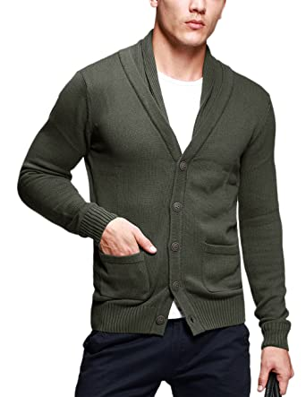 Match Mens Sweater Series Shawl Collar Cardigan 12088(US 2XL (Tag size 4XL