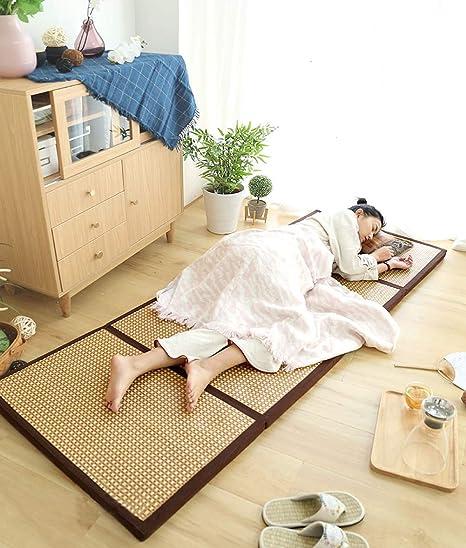 Amazon.com: Colchón tradicional japonés de tatami de mimbre ...