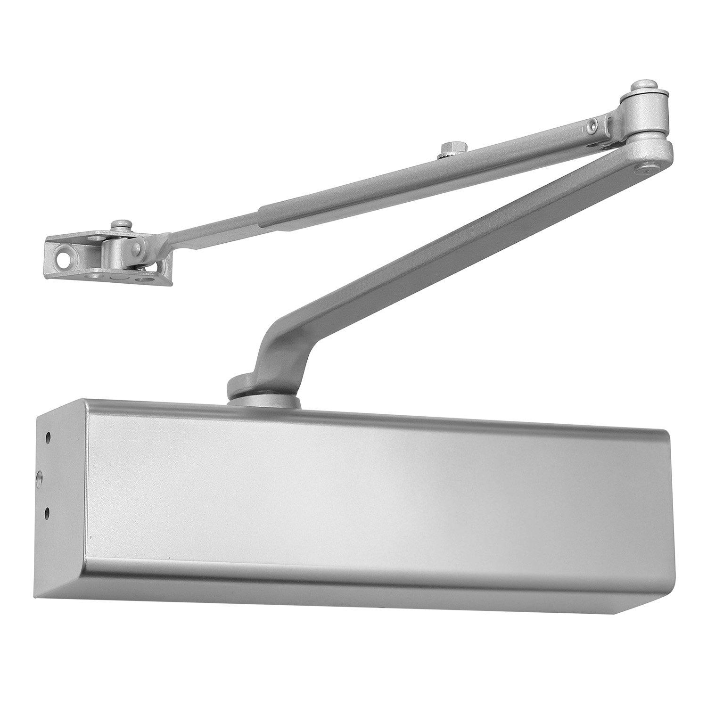 Heavy Duty Grade 1 Cast Aluminum Commercial Door Closer, Lawrence Hardware LH816 for high-Traffic entrances/doorways/Aluminum storefronts (1, Aluminum (AL))