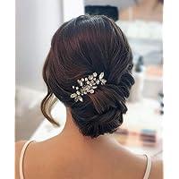 Edary Kristall brud bröllop hårkam hårtillbehör med strass brud sidokammar för kvinnor och flickor