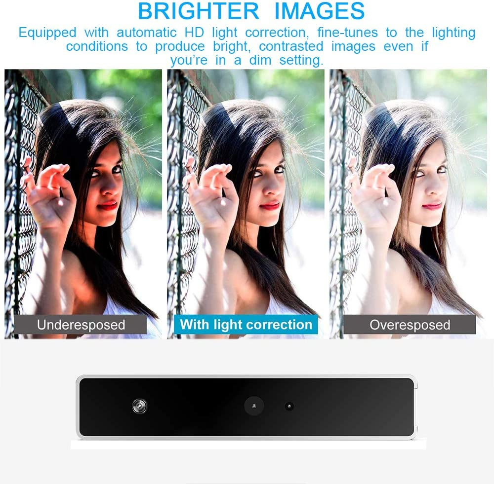 Full HD 1080P Camcorder for Calling and Recording on YouTube,Skype,Etc Windows Hello with IR Camera Camcorder Video Camera Facial Recognition Camera RGB Webcam