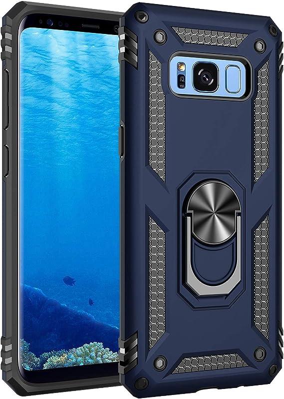 Coque de protection pour smartphone avec anneau pivotant incassable à 360 degrés, Samsung Galaxy S10