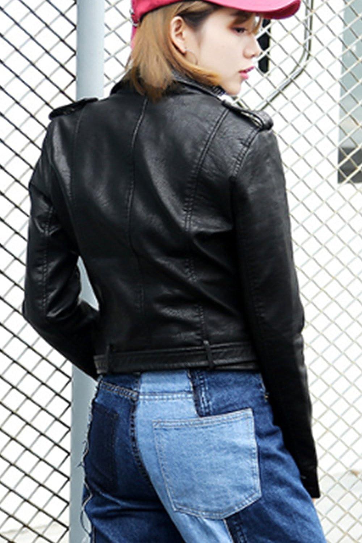 La Femme Automne - Hiver Occasionnel Du Plutonium Postal Outcoat Punk Blazer,  Veste En Cuir Moto: Amazon.fr: Vêtements et accessoires