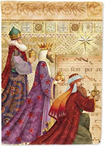 Caroline's Treasures APH7603CHF Christmas Three Wise Men Flag Canvas House Size, Large, Multicolor