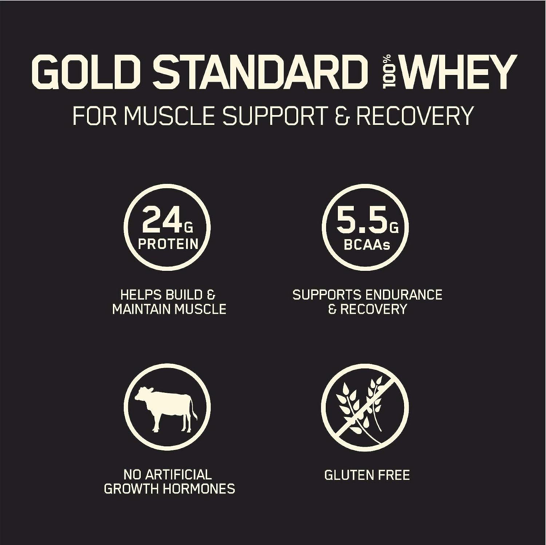 Optimum Nutrition 100% Whey Gold Standard, Sabor Vanilla Ice Cream - 908 gr