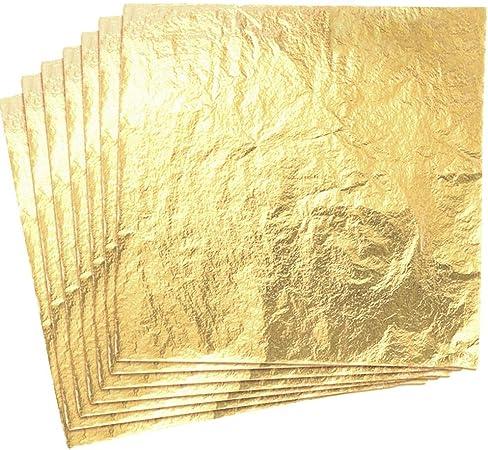 100 feuilles à dorer couleur argent pour dorure 14x14cm Neuf
