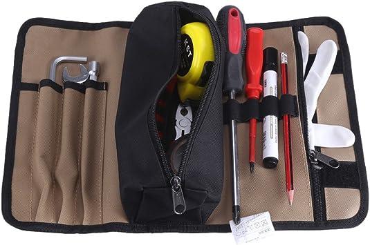 Estuche enrollable para herramientas portátil bolsas portaherramientas en tejido Oxford 600d bolsa de herramientas electricista: Amazon.es: Bricolaje y herramientas