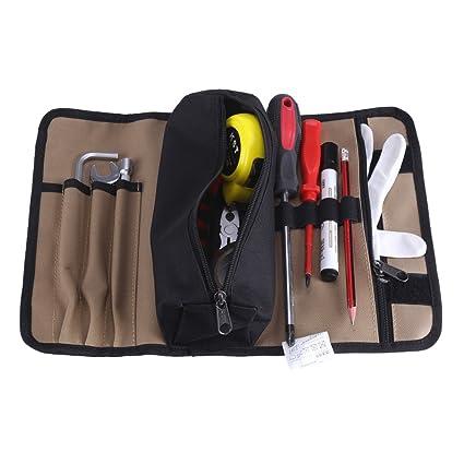 Zerodis - Estuche enrollable para herramientas portátil bolsas portaherramientas en tejido Oxford 600d bolsa de herramientas electricista
