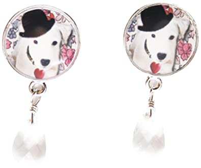 Marc Labat My Little Pets 12H20 Women s Earrings Metal Email Bead ... 261c809790
