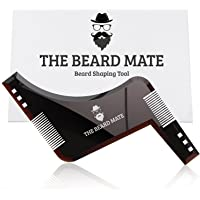 Beard Shaping Tool Template. Beard shaper tool PLUS comb for line up & edging, Men's Facial Hair Hairline Perfect Symmetric Lines and Trim with Beard Trimmer Hair Clipper or Razor.