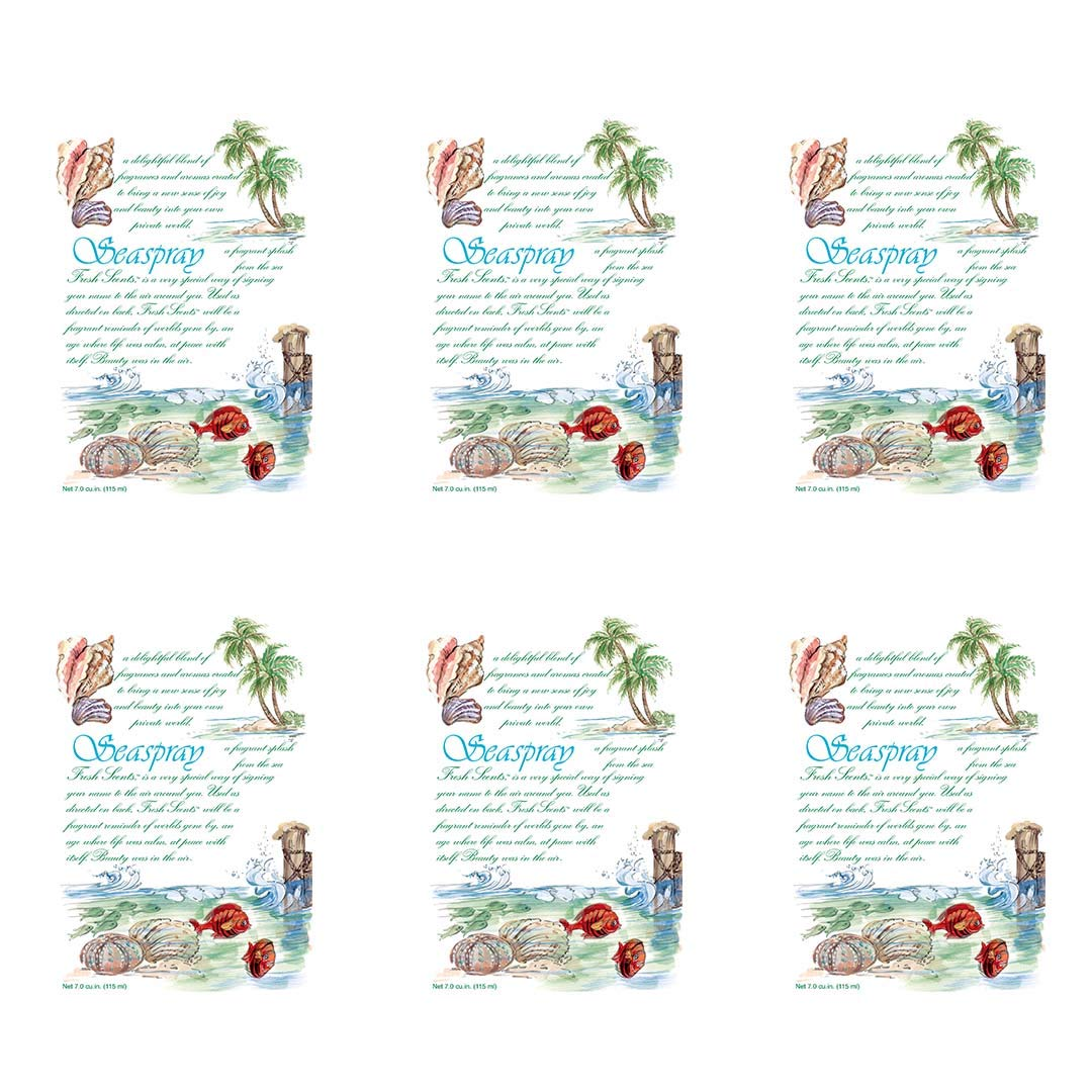 WILLOWBROOK Fresh Scents Scented Sachet - Seaspray, 6-Pack by WILLOWBROOK