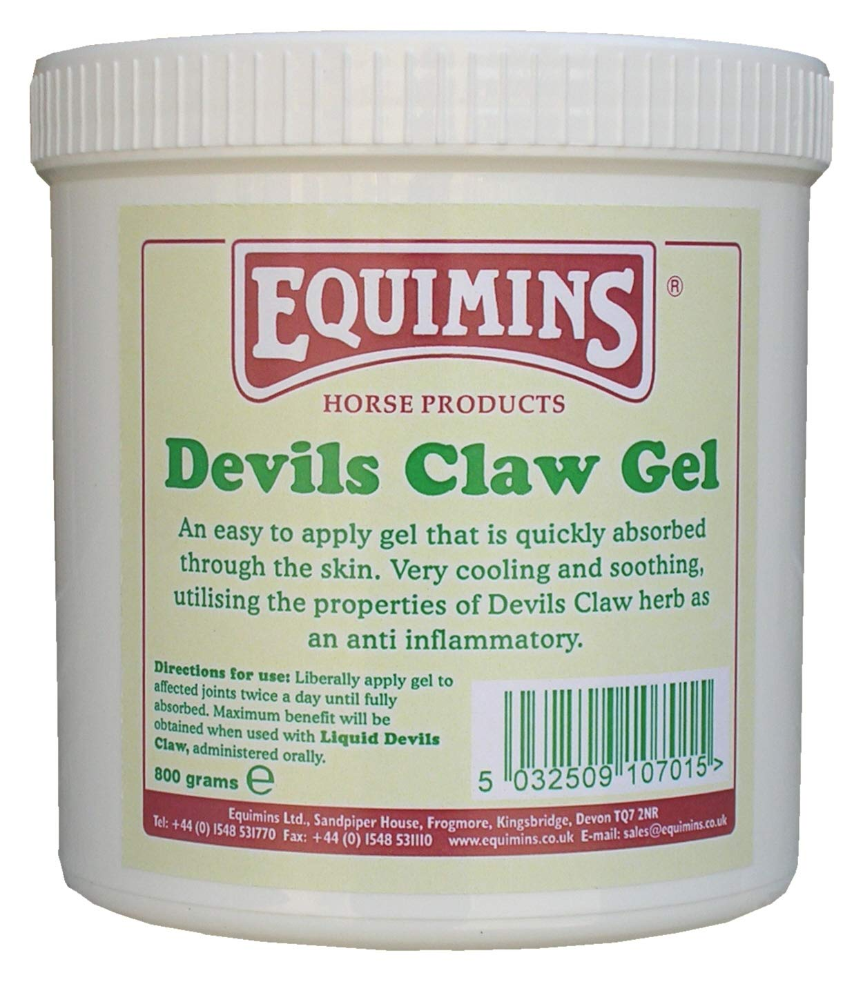 EQUIMINS DEVILS CLAW GEL EQUINE HORSE LEG & MUSCLE
