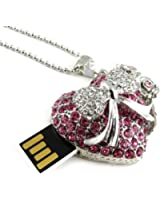 Les Trésors De Lily [L0575] - Clé USB collier 'Love' rose chrome (8Go)