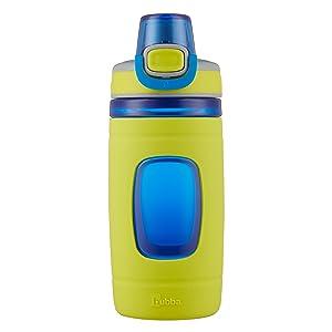 Bubba Flo Kids Water Bottle, 16 oz, Neon Pear with Azure