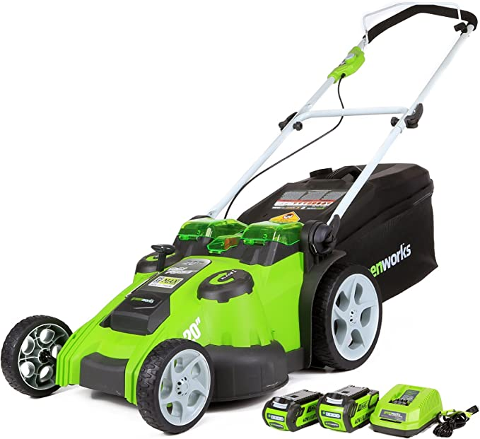 Greenworks 25302 40V 20-Inch Cordless Twin Force Lawn Mower - ​Best Overall Lawn Mower Cordless