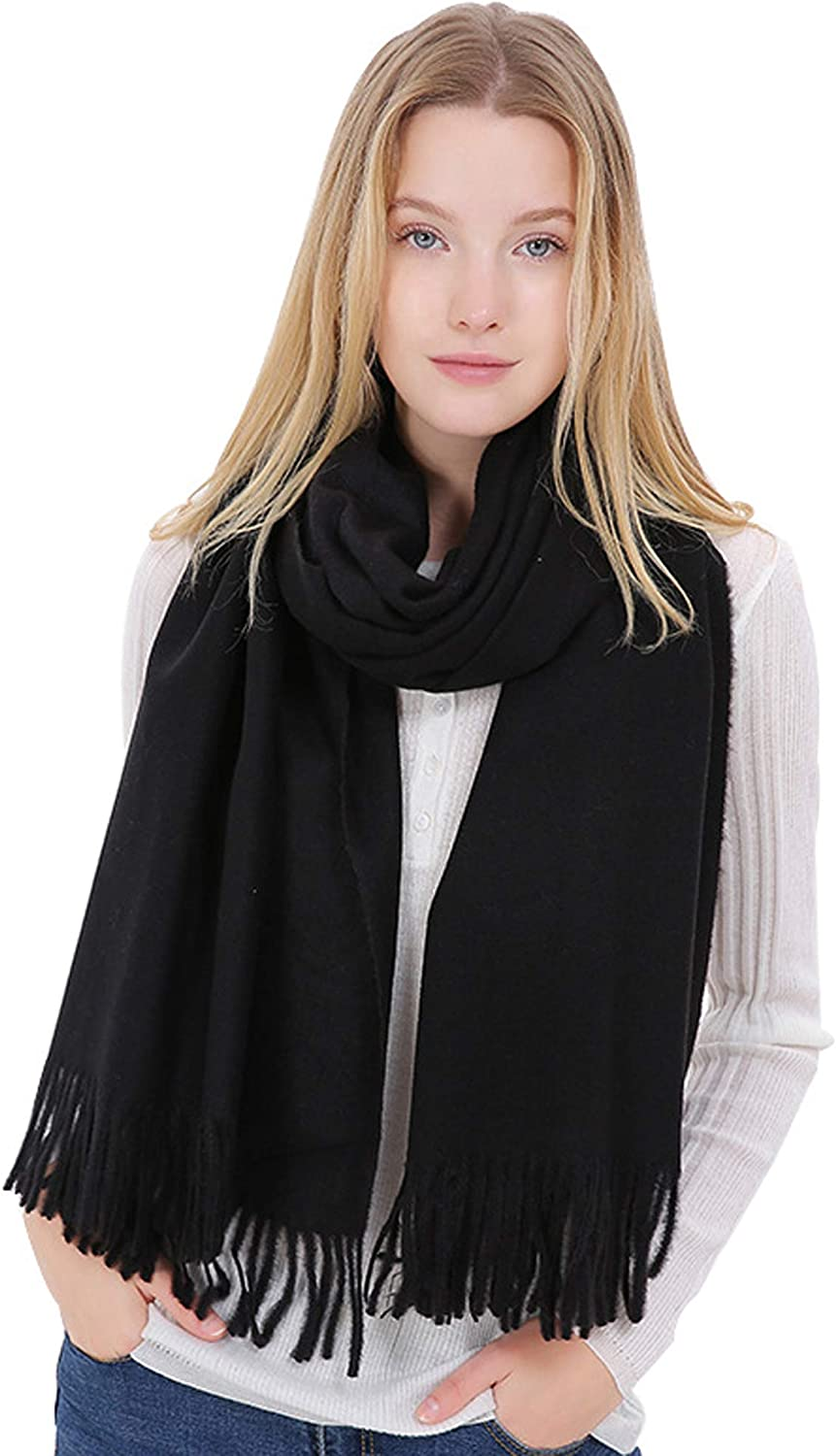 Infinity Scarf Blanket Cashmere Women Men,LONGWEIZ Unisex Winter Warm Cozy Scarf for Women and Men