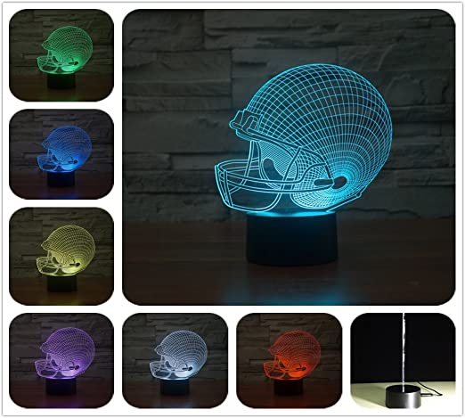DowBier 3D Illusion Multi Colors USB Sleeping Night Light with Cracked Base Desk Lamp Room Decoration