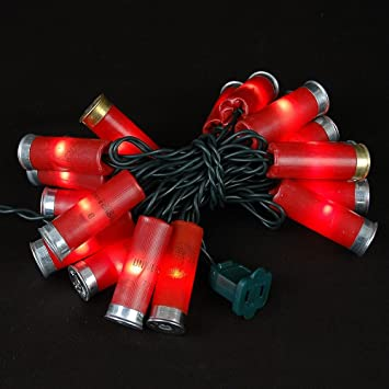 Amazon.com : Novelty Lights 20 Light Shotgun Shell Mini Light Set ...
