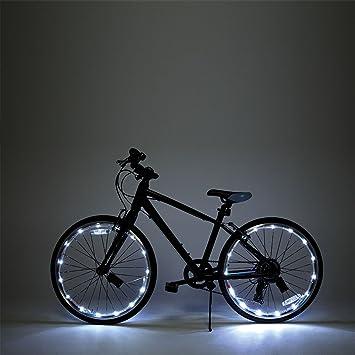 Luces LED para radios de rueda y marco de bicicleta, 2 unidades, de JML, blanco: Amazon.es: Deportes y aire libre