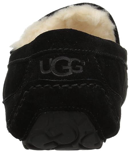 cf735c7e0 Amazon.com | UGG Men's Ascot Slipper, Black Suede, 11 M US | Slippers