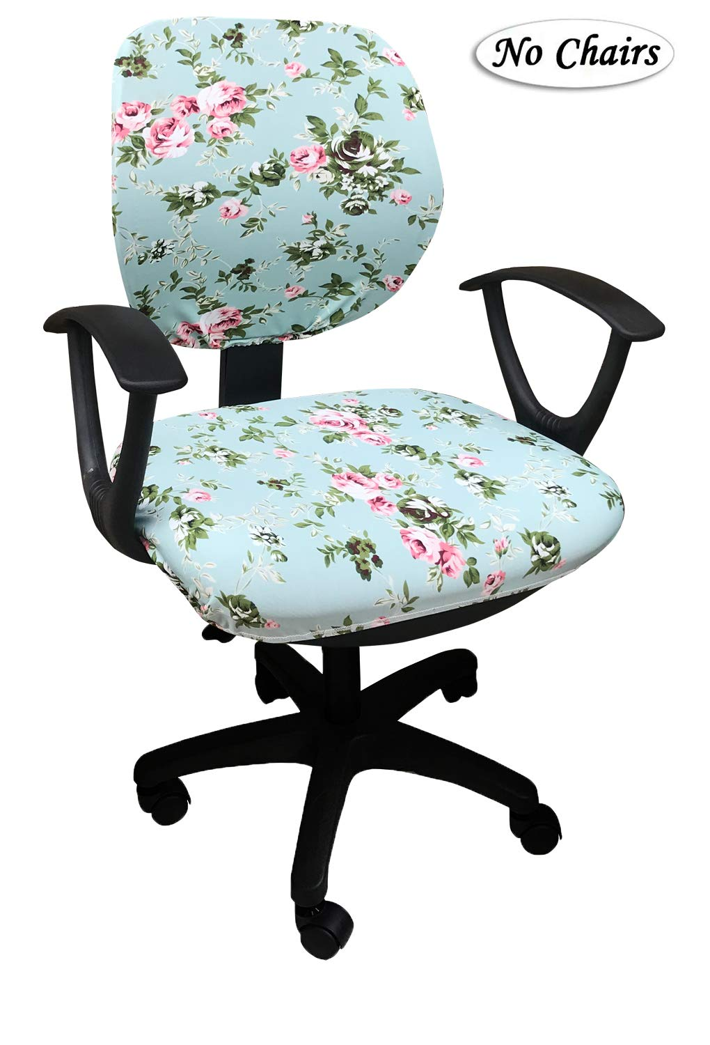 MOCAA Computer Office Chair Covers Universal Stretchable Polyester Washable Rotating Chair Slipcovers,ONLY Chair Covers (Color 15)