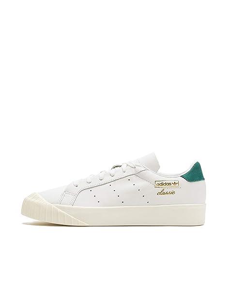 113d19e588fa7f Adidas Everyn W White White Green  Amazon.it  Scarpe e borse