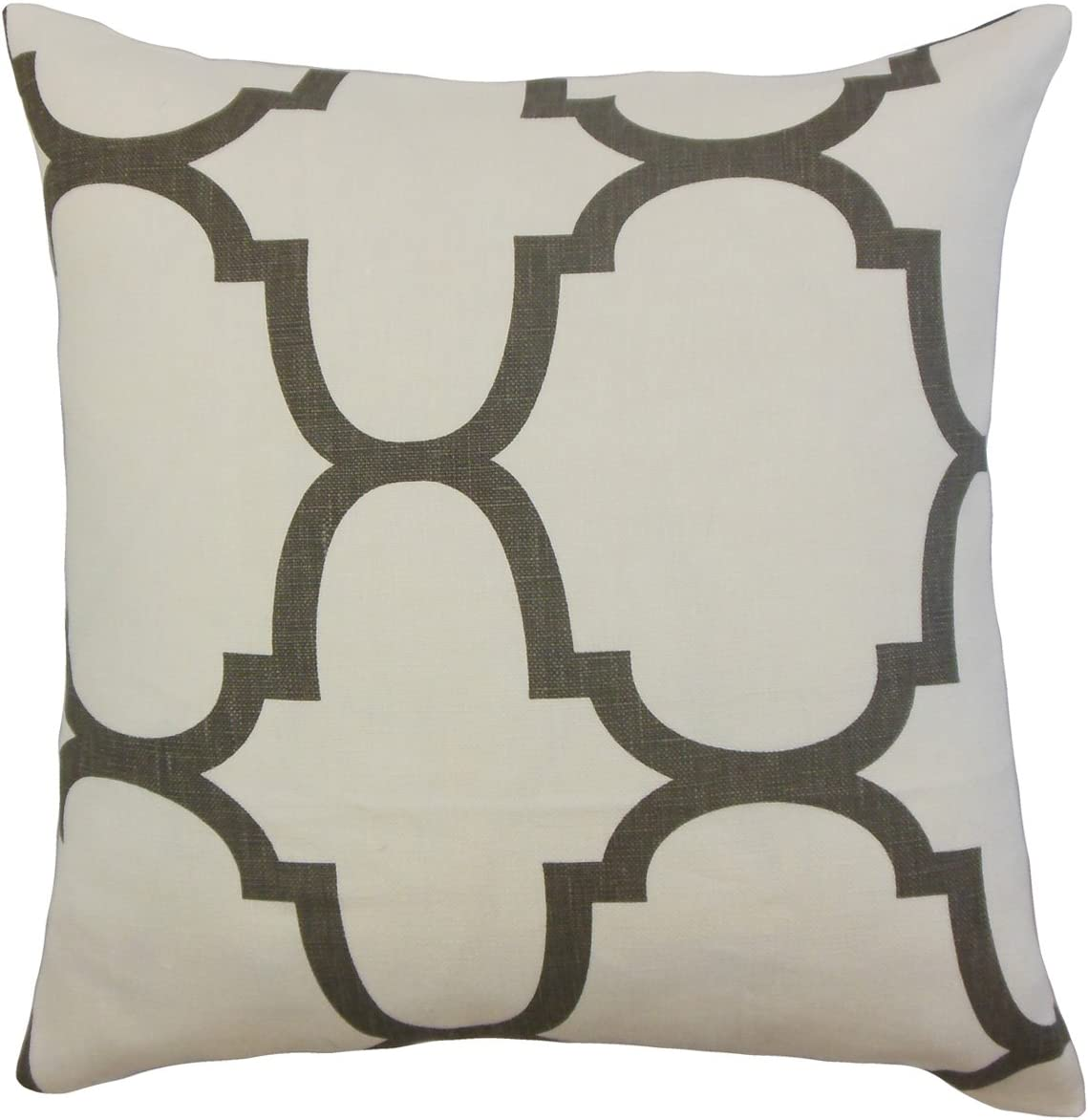 The Pillow Collection Cascade Geometric Bedding Sham Clove Queen//20 x 30