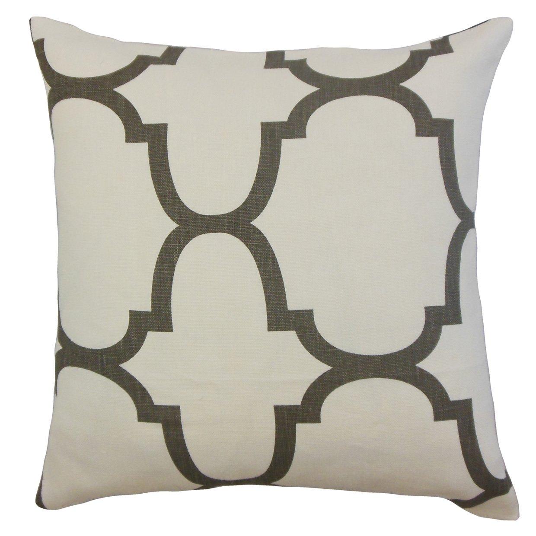 The Pillow Collection Cascade Geometric Bedding Sham Clove Standard/20 x 26'