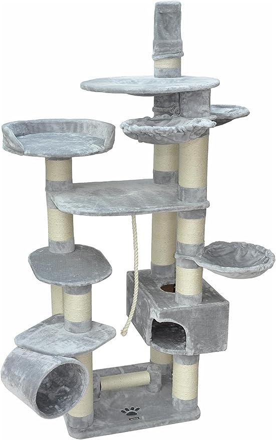 nanook Taurus - Rascador XXL para gatos grandes y pesados, troncos con diámetro de 15 cm, altura de 245 cm, color gris: Amazon.es: Productos para mascotas