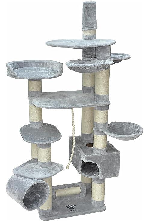 nanook Taurus- Rascador XXL para gatos grandes y pesados, troncos con diá
