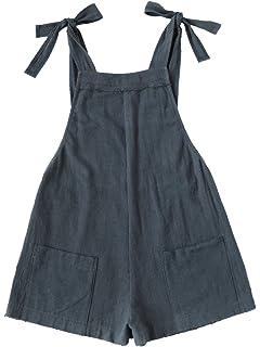 7f100b886b6 SweatyRocks Women s Casual Cotton Bib Shortalls Romper Jumpsuits with  Pockets