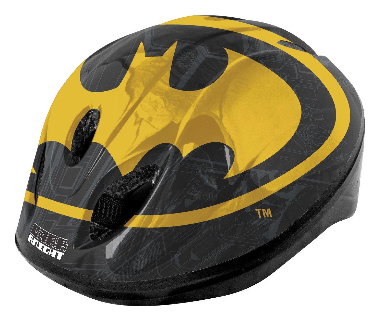 Casco para ni/ño para Bicicleta de Paseo Color Batman Safety 52-56 cm