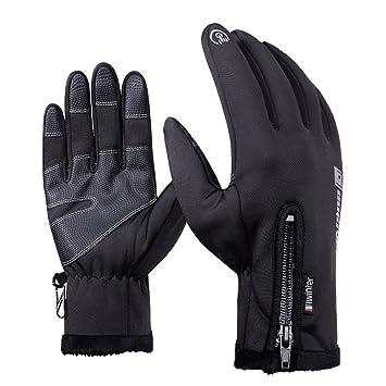 Men Women/'s Glove Winter Fleece Lined Full Finger Outdoor Gloves Touch Screen