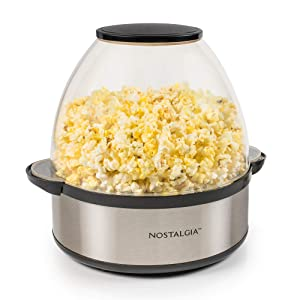 Nostalgia SP660SS 6-Quart Stainless Steel Stirring Speed Popcorn Popper
