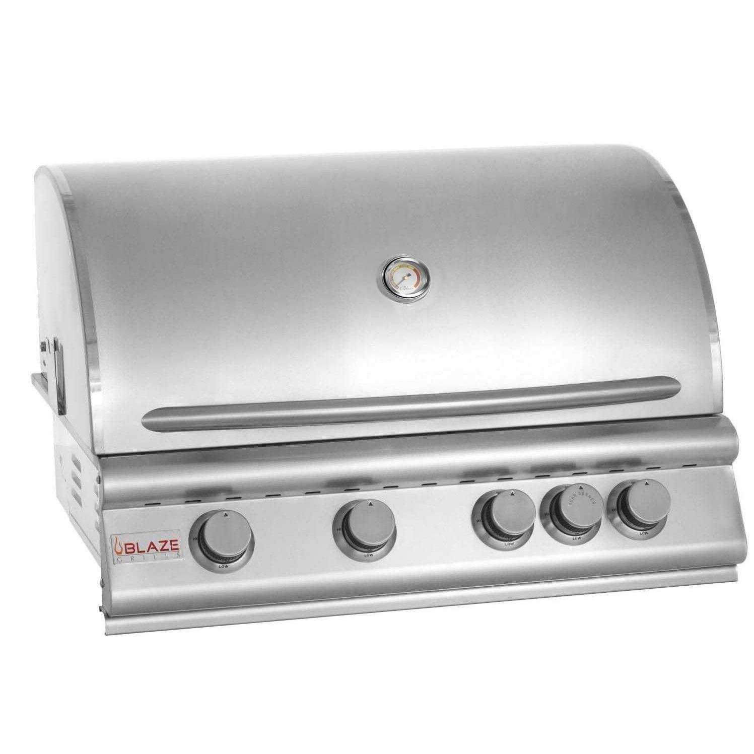 32'' 4-Burner Built-In Gas Grill with Rear Infrared Burner Gas Type: Natural