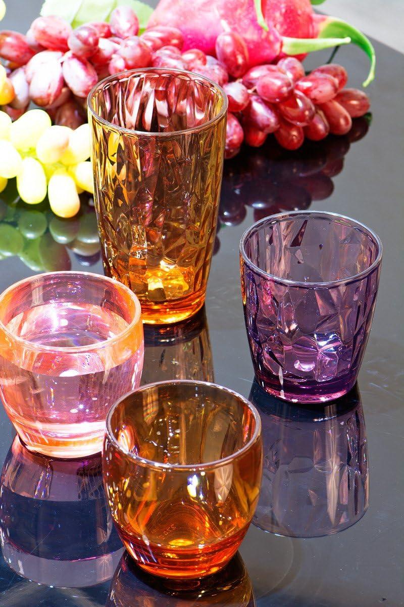 Assorted Colors Urmelody 290 ml de color acr/ílico vasos irrompible vasos reciclado copas de vino tritan inastillable pl/ástico dinkware 4 unidades