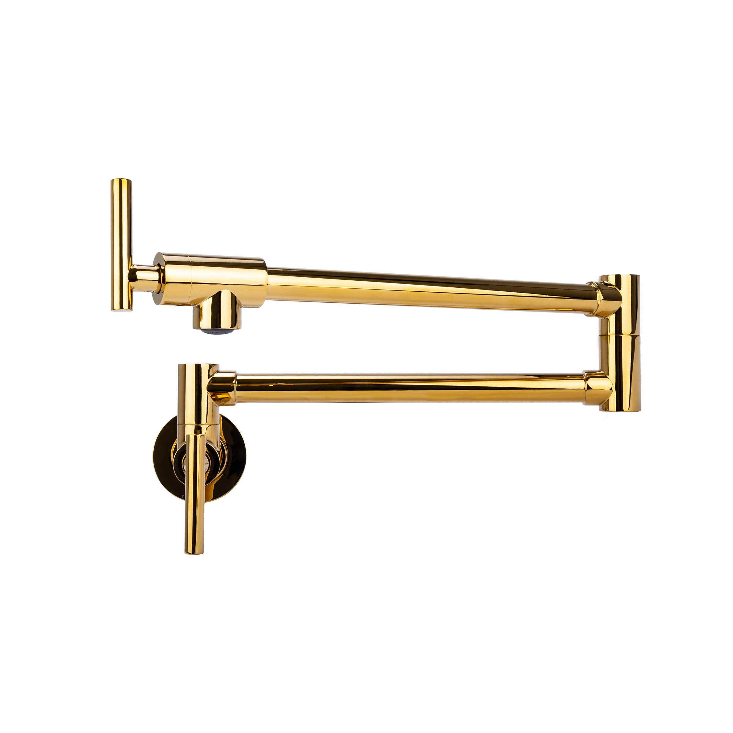 Brienza by Italia, K62202-GLD, Contemporary Pot Filler Kitchen Faucet in Gold Finish