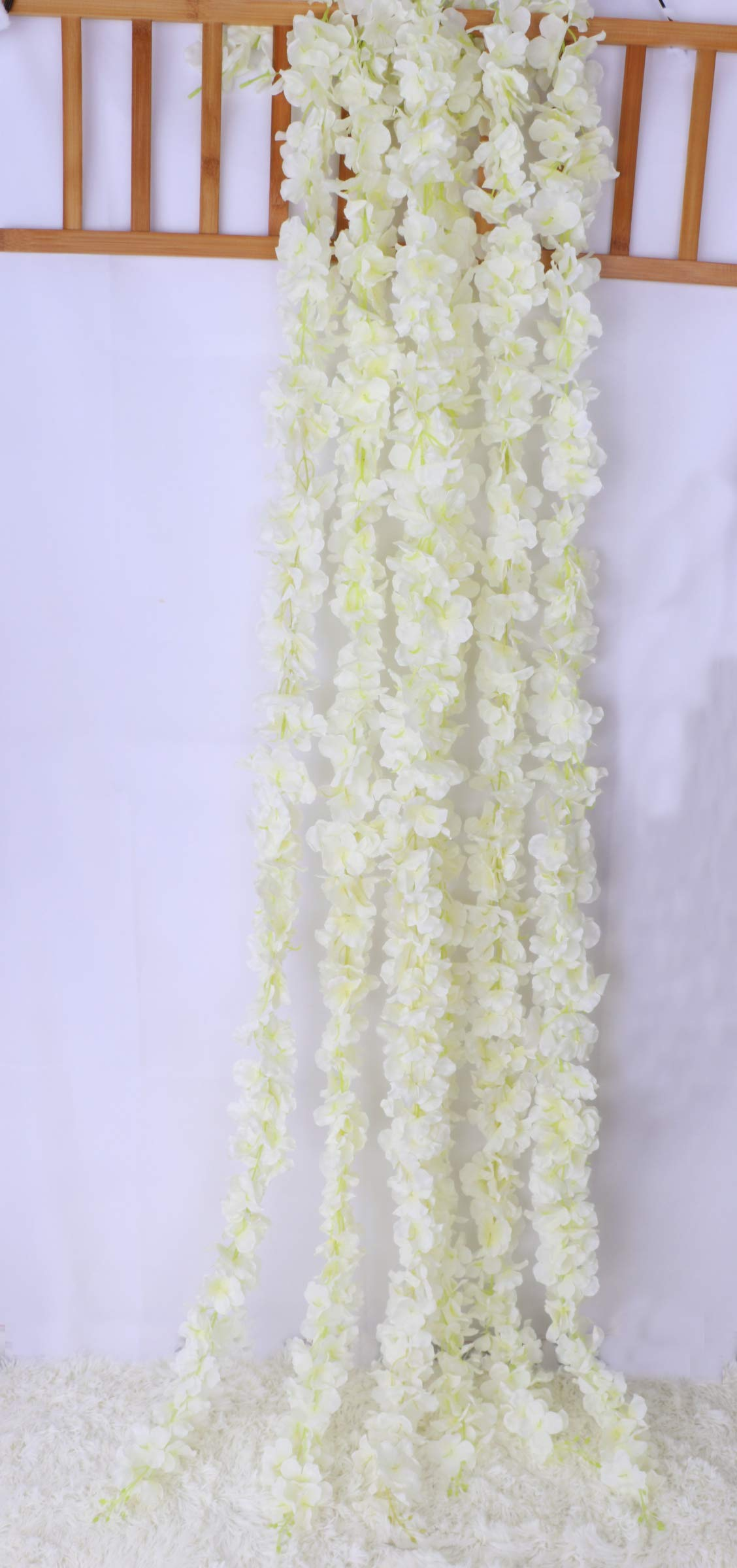 Lannu-5-Pack-13-FT-Artificial-Hydrangea-Flower-Vine-Wisteria-Garland-Vines-Cattleya-Flowers-Plants-for-Home-Wedding-Party-Decor-Cream
