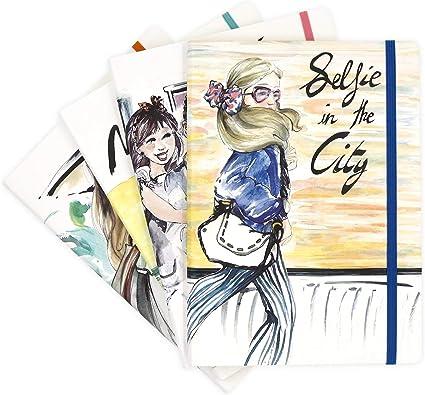 Recuerding - Pack 4 Cuadernos A5 de Viaje, 96 Páginas Cada Uno ...